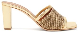 Malone Souliers Demi Beaded Metallic-leather Mules - Gold