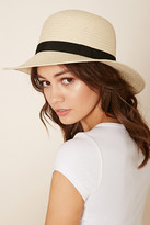 Forever 21 FOREVER 21+ Woven Straw Cloche Hat