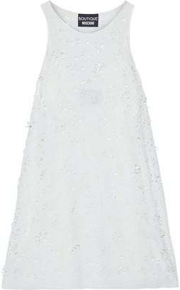 Boutique Moschino Laser-cut Crepe Mini Dress