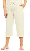 Sleep Sense Plus Floral & Striped Capri Sleep Pants