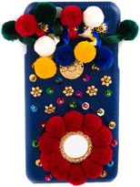 Dolce & Gabbana embellished iPhone 6 Plus case - women - Cotton/Leather/Metal (Other)/glass - One Size