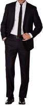Levinas Black Pinstripe Two Button Notch Lapel Wool Slim Fit Suit