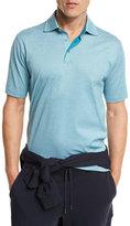 Ermenegildo Zegna Diamond-Textured Polo Shirt, Green