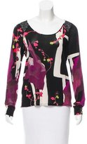 Christian Lacroix Sequin-Embellished Abstract print Top