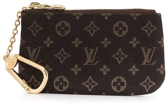 Louis Vuitton Logo Print Coin Pouch