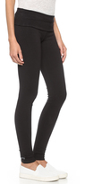 So Low SOLOW Jersey Long Fold Over Leggings