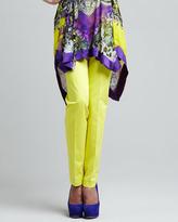 Etro Slim Straight Ankle Pants, Yellow