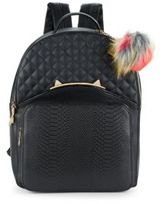 Betsey Johnson Cat's Meow Quilted Backpack