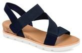 Brinley Co. Womens Elastic Strap Wedge Sandals