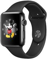 Apple Watch Series 2, 42mm Space Black Stainless Steel Case With Space Black Sport Band