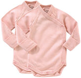 Giggle Organic Cotton Long-Sleeve Baby Bodysuit - Solid 2-Pack
