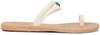 Ancient Greek Sandals Nea Gems Embellished Leather Sandals