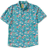 Margaritaville Short-Sleeve Flamingo Floral Print Shirt