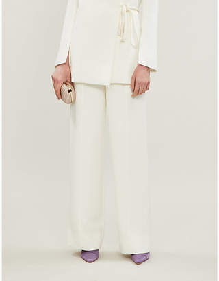 Roksanda Lapari high-rise silk-crepe wide-leg trousers