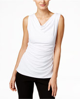 Calvin Klein Fit Solutions Draped Ruched Top