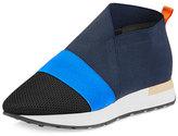 Balenciaga Elastic Slip-On Sneaker, Marine