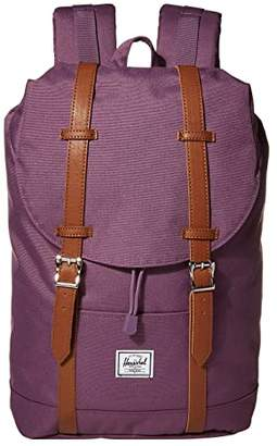 Herschel Retreat Mid-Volume (Navy/Tan Synthetic Leather) Backpack Bags