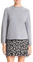 Milly Women's Brushed Cashmere Bell Sleeve Sweater