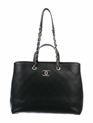 Chanel 2020 Large Calfskin Shopping Bag Black