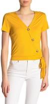 Lush Rib Knit Button Down Blouse