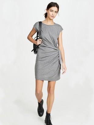 Velvet by Graham and Spencer - Gussie Tie Waist Dress In Grey - L