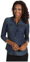 Calvin Klein Jeans Fitted Denim Shirt (Light Wash) - Apparel