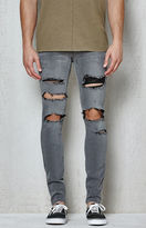 PacSun Skinniest Destroyed Gray Active Stretch Jeans