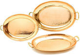 Old Dutch Hammered Dcor Copper Oval Trays 3 Piece Set