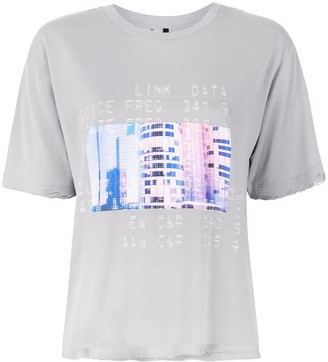 Unravel Project contrast print T-shirt