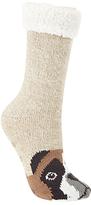 John Lewis Boxer Dog Chunky Novelty Ankle Socks, Beige/Tan