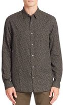 Vince Botanical Print Button-Down Shirt