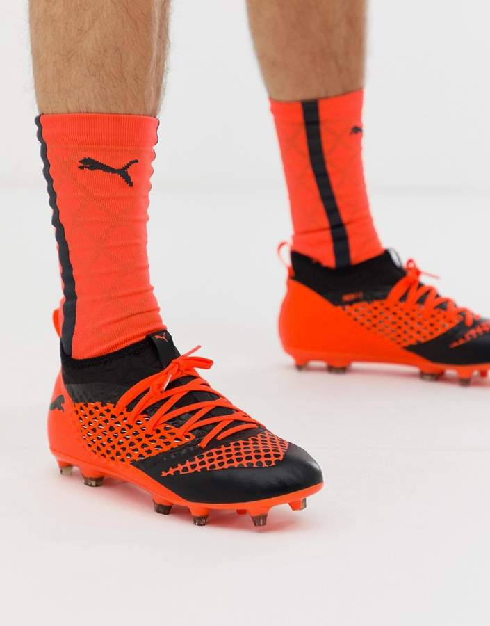 40d845dc4d84d Football Future 2.3 Netfit Firm Ground Boots In Orange 104832-02