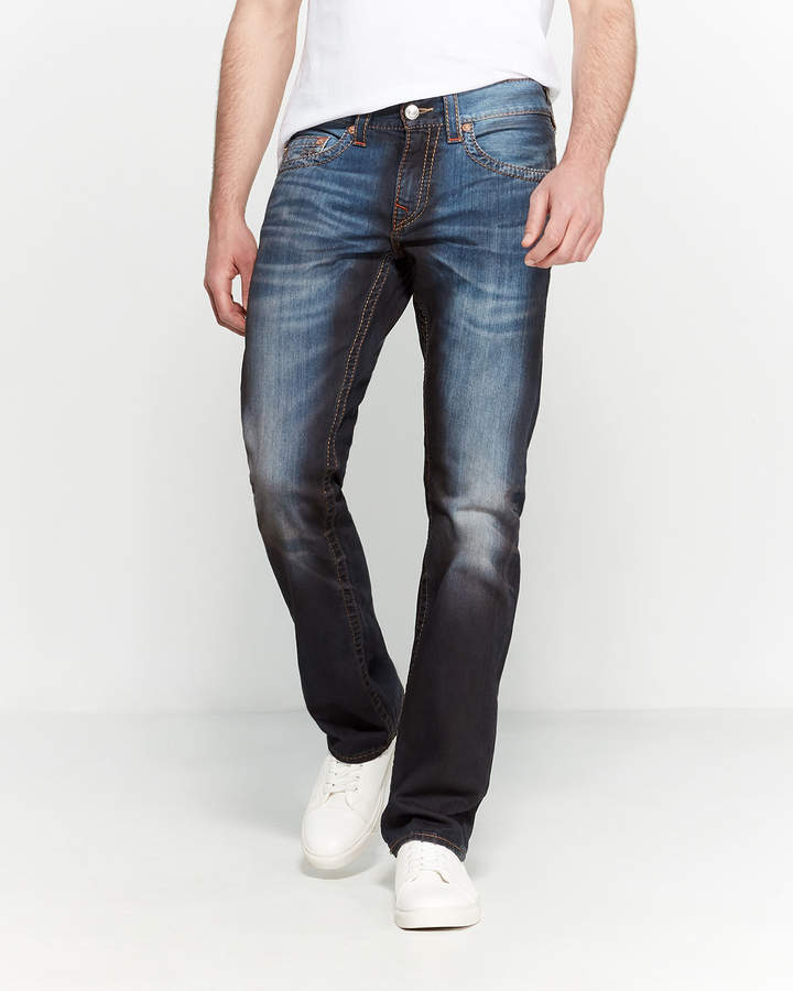 True Religion Asteroid Flame Straight Leg Jeans