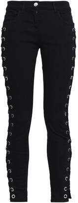 Versus By Versace Lace-up Mid-rise Skinny Jeans