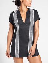 Athleta Column Embroidery Luxe Kaftan