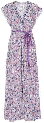 Poupette St Barth Ola floral wrap dress