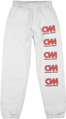 Chinatown Market Most Trusted grey cotton-blend sweatpants