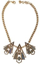 Lulu Frost Women's Antique Gold Plated Odeon Necklace of Length 46.5-49.1cm