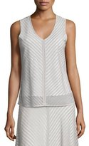 Nic+Zoe Sheer Striped Tank, Petite