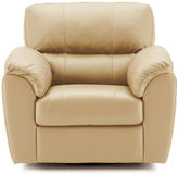 Asstd National Brand Leather Possibilities Pad-Arm Swivel Chair
