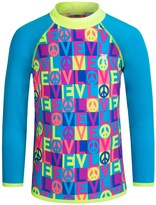 TYR Peace & Love Graphic Rash Guard - UPF 50+, Long Sleeve (For Little and Big Girls)