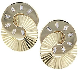 Phillips House Aura 14K Yellow Gold & Diamond Baquette Interlocking Stud Earrings