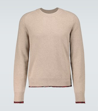 Maison Margiela Knitted elbow patch sweater