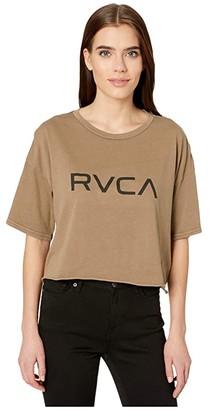 RVCA Big Crop T-shirt (Vintage Green) Women's Clothing