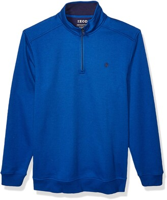 Izod Men's Big & Tall Big and Tall Advantage Performance Quarter Zip Fleece Pullover