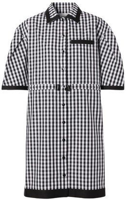 Burberry Gingham Puff-Sleeved Shirt Dress