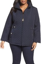 Gallery Plus Size Women's Quilted Scuba Jacket