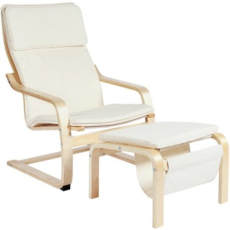 Argos Home Bentwood High Back Chair & Footstool