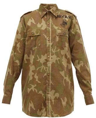 Myar - Camouflage Print Cotton Shirt Jacket - Womens - Camouflage