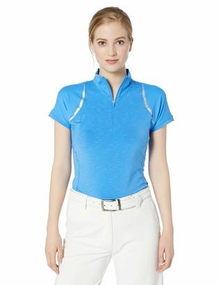 Cutter & Buck Women's Drytec UPF 50+ Short Sleeve Elite Contour Mock Jersey Shirt